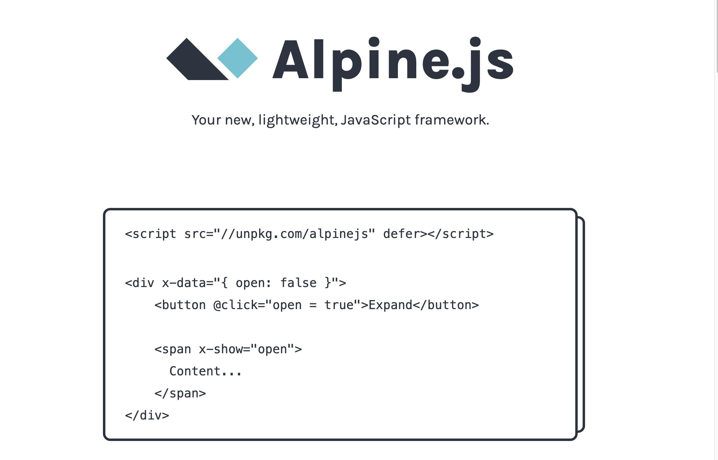 如果不想用 react vue,可以用它,小巧的 js 框架