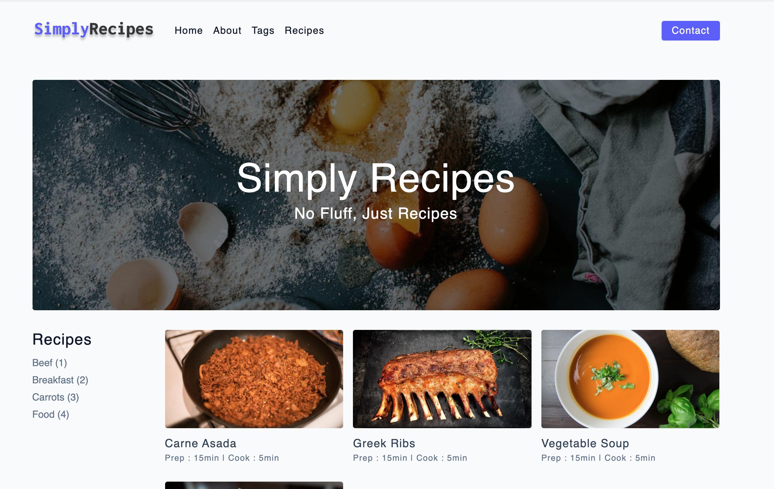 html css 实现的简单的点菜网站,支持响应式