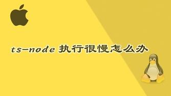ts-node 命令执行编译太慢咋办呀?