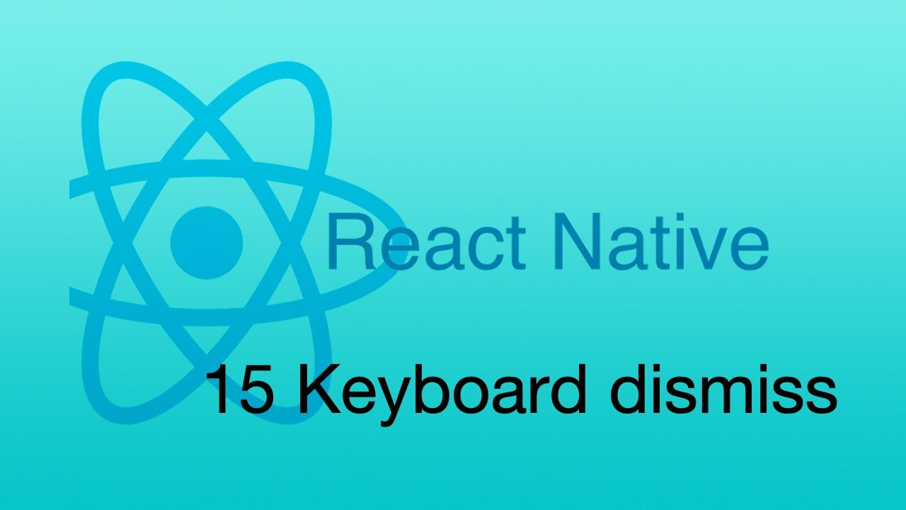 #15 Keyboard dismiss