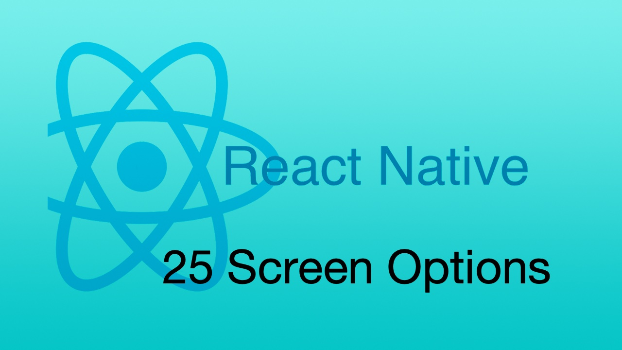 #25 Screen Options