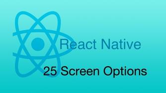 #25 Screen Options