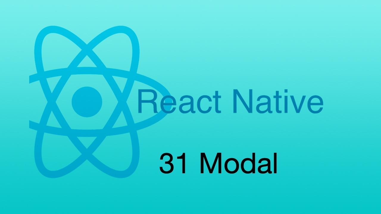 #31 模态框 - Modal