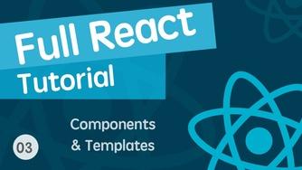 React & React Hook & React Router 基础入门实战视频教程 03 组件与模板