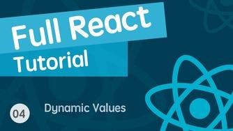 React & React Hook & React Router 基础入门实战视频教程 04 模板上的动态值