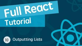 React & React Hook & React Router 基础入门实战视频教程 10 输出列表