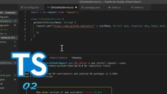 TypeScript + Node.js 实战 GitHub API #2 安装依赖和发送 API 请求