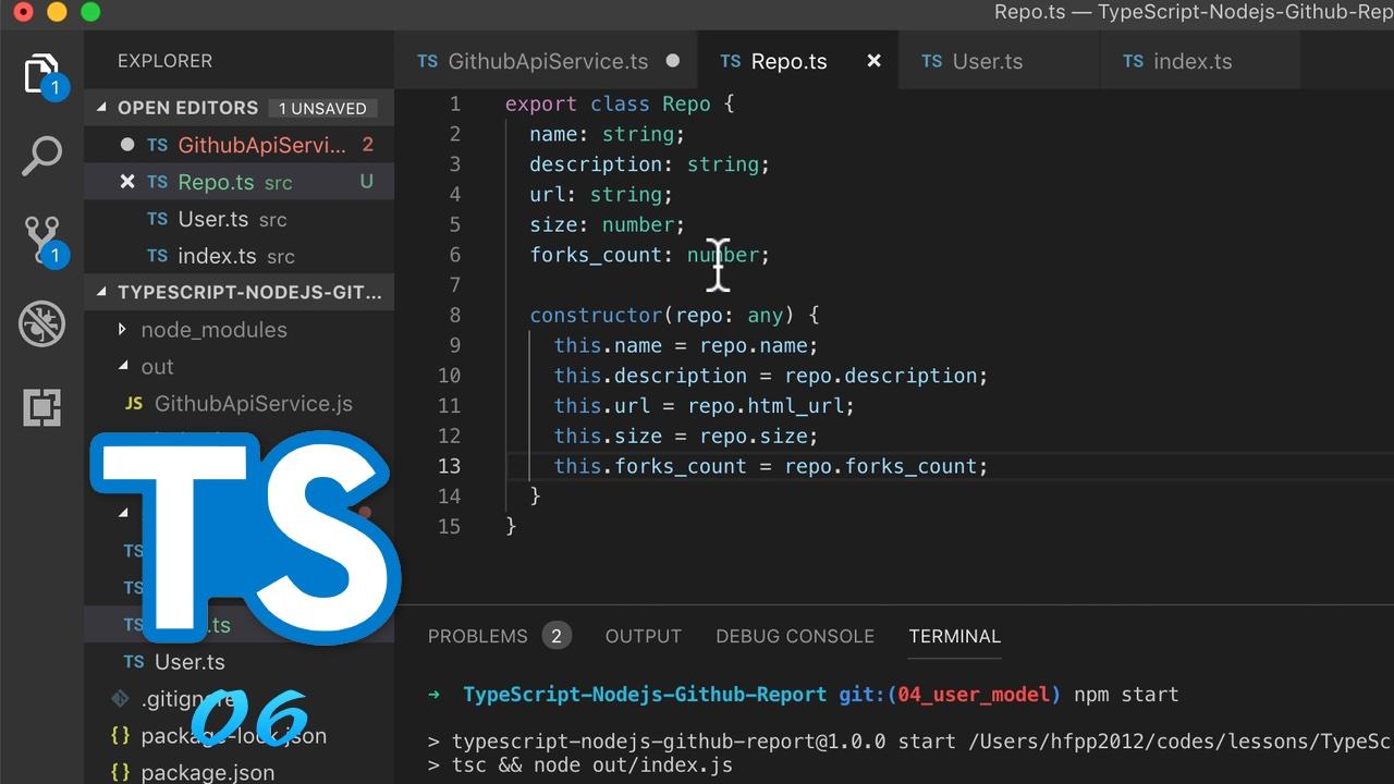 TypeScript + Node.js 实战 GitHub API #6 创建 Repo model