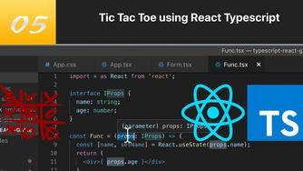 TypeScript 结合 React 写三连棋游戏 #5 Function 组件使用 props 和 state(今天第三更)