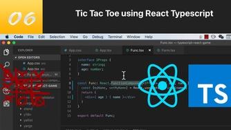 TypeScript 结合 React 写三连棋游戏 #6 高效使用 vscode 来辅助化开发 TypeScript