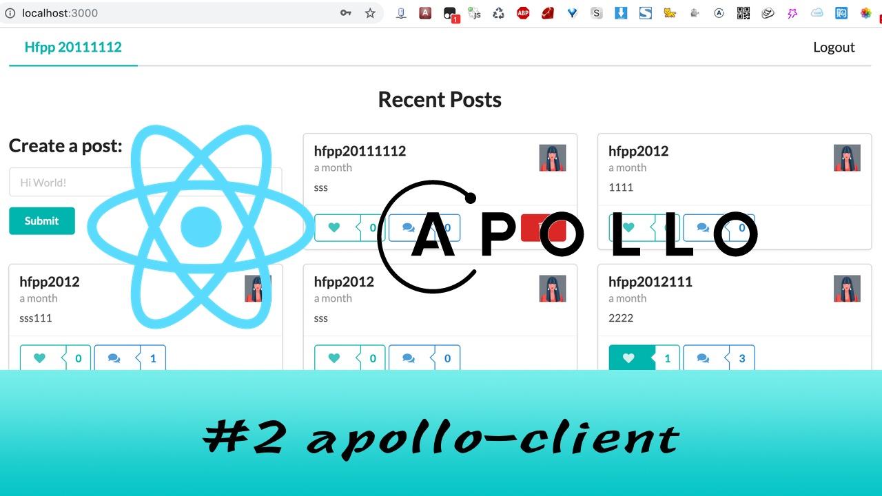GraphQL + React Apollo + React Hook 大型项目实战 #2 搭建 Apollo 客户端