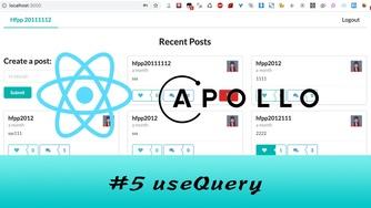 GraphQL + React Apollo + React Hook 大型项目实战 #5 使用 useQuery 查询数据