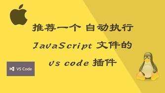 推荐一个 自动执行 JavaScript 文件的 vs code 插件